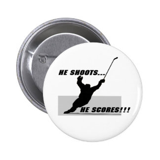Hockey T-shirts and Gifts. 2 Inch Round Button