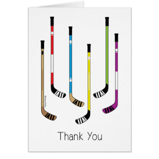 Hockey Thank You Greeting Card