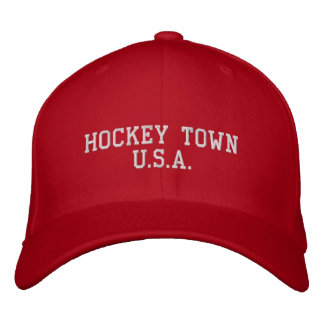 HOCKEY TOWN U.S.A. EMBROIDERED BASEBALL CAPS