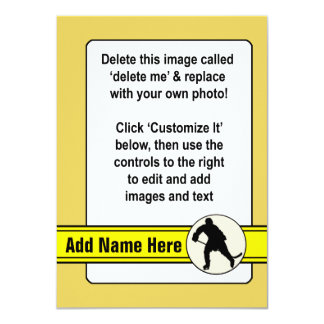 Hockey Trading Card Template Personalized Invite