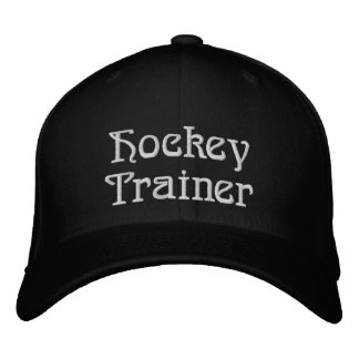 Hockey Trainer Embroidered Hats