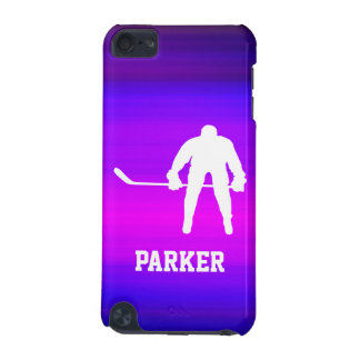 Hockey; Vibrant Violet Blue and Magenta iPod Touch (5th Generation) Cover