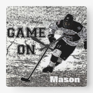 Hockey Wall Clock Personalized Custom