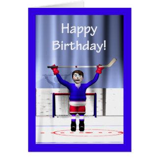 Hockey Winner Birthday Greeting Cards