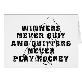 Hockey Winners Never Quit Cards
