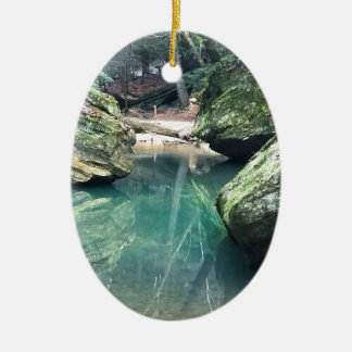 Hocking Hills Boulders Ceramic Ornament