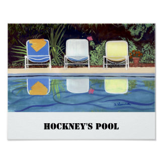 Hockney's Pool Poster