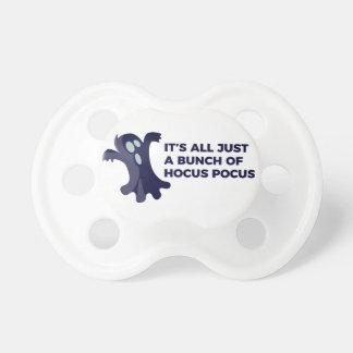 Hocus Pocus Ghost Boo Halloween Design Pacifier