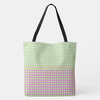 Hodge-Podge-Plaid-Totes-Shoulder-Bags-Multi Tote Bag