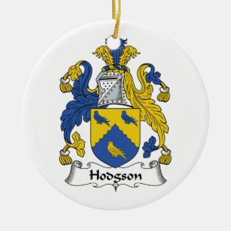 Hodgson Family Crest Ceramic Ornament