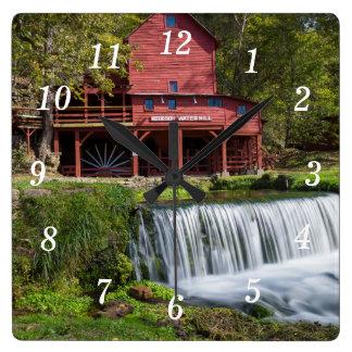 Hodgson Mill Landscape Square Wall Clock