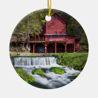 Hodgson Water Mill Landscape Ceramic Ornament