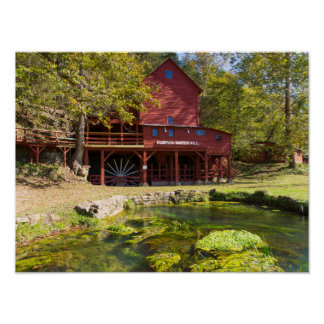 Hodgson Water Mill Poster