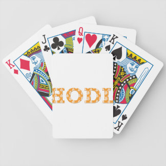 Hodl Bitcoin Bicycle Playing Cards