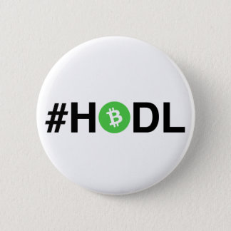 #HODL Bitcoin Cash Button (Light)