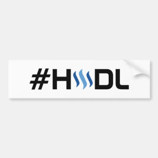 #HODL STEEM Bumper Sticker