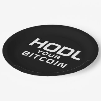 HODL your bitcoin Paper Plate