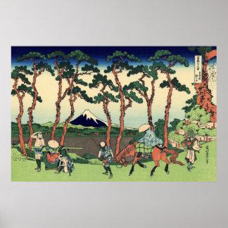 Hodogaya on the Tōkaidō Poster