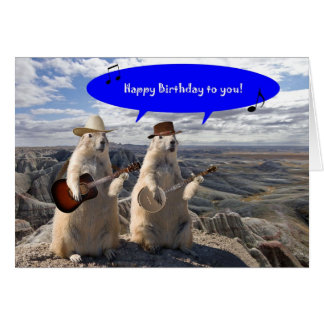 HOEDOWN IN PRAIRIE DOG TOWN BIRTHDAY CARD