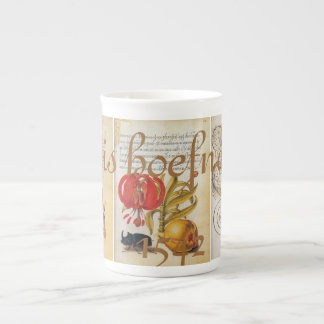 Hoefnagel Antique Insects flowers coffee Tea Cup