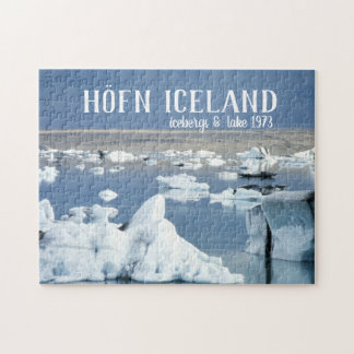 Höfn Iceland Icebergs & Lake Blue Ice Glacier Jigsaw Puzzle