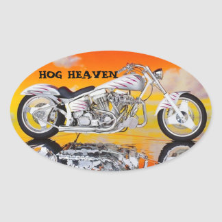 HOG HEAVEN HELMET STICKERS PKG OF 4