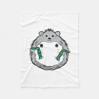 Hog life - cute hedgehog in socks drawing fleece blanket