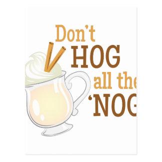 Hog The Nog Postcard