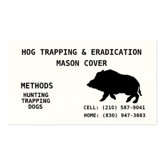 HOG TRAPPING & ERADICATION BUSINESS CARD TEMPLATE