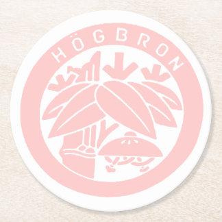 HÖGBRON_COASTER (PINK) ROUND PAPER COASTER