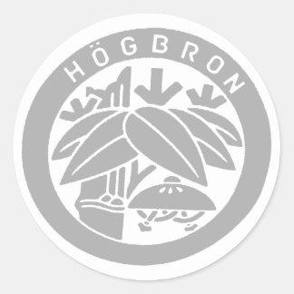 HÖGBRON_STICKER CLASSIC ROUND STICKER