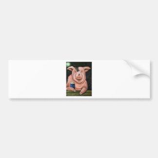 Hogging The Moonshine Bumper Sticker