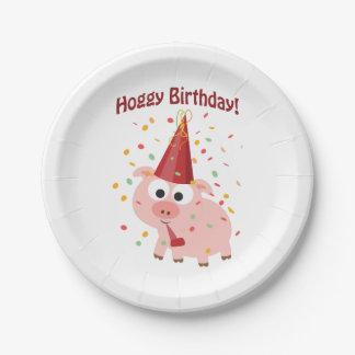 Hoggy Birthday! Paper Plate
