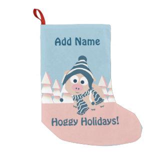 Hoggy Holidays! Winter Pig Small Christmas Stocking
