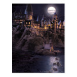 Hogwarts Boats To Castle Postcard