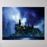 Hogwarts By Moonlight Poster