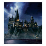 Hogwarts Castle At Night Poster