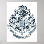 Hogwarts Crest Blue Posters