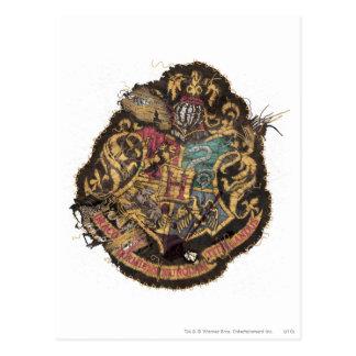 Hogwarts Crest - Destroyed Postcard