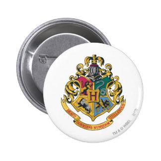 Hogwarts Crest Full Colour 2 Inch Round Button