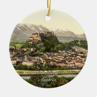 Hohensalzburg Castle, Salzburg, Austria Ceramic Ornament
