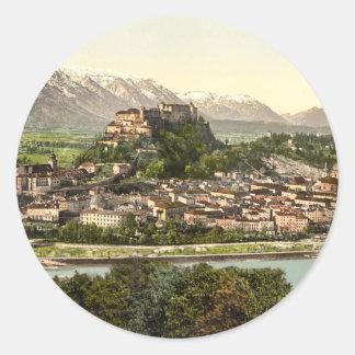 Hohensalzburg Castle, Salzburg, Austria Classic Round Sticker