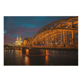 Hohenzollern Bridge Wood Wall Decor