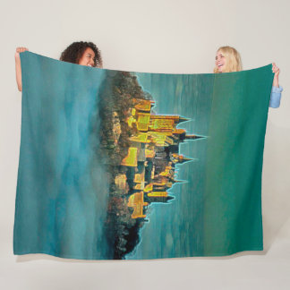 Hohenzollern Castle, Germany Acrylic Art Fleece Blanket