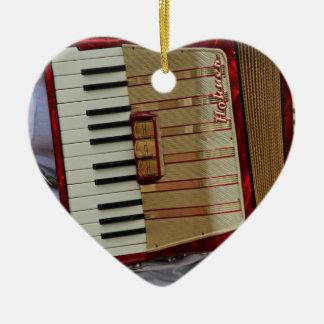 Hohner Accordion Ceramic Heart Ornament