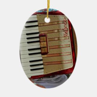 Hohner Accordion Ceramic Oval Ornament