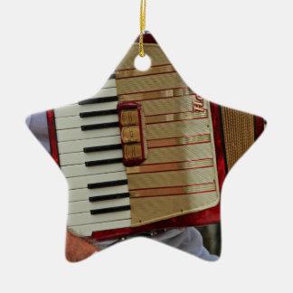 Hohner Accordion Ceramic Star Ornament