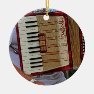 Hohner Accordion Round Ceramic Ornament