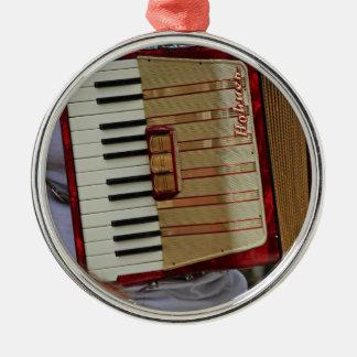 Hohner Accordion Silver-Colored Round Ornament