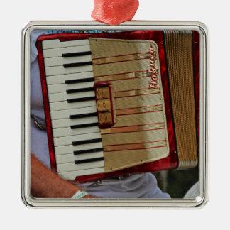 Hohner Accordion Silver-Colored Square Ornament